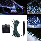 AGPtek® 33 Feet 60 LED Connectable Solar Power String Fairy Light for Christmas Party Celebration Occasions - White