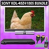 Sony Bravia Z KDL-40Z4100S 40in. 1080P HD LCD TV (Silver) + Sony DVD Player w/ Accessory Kit