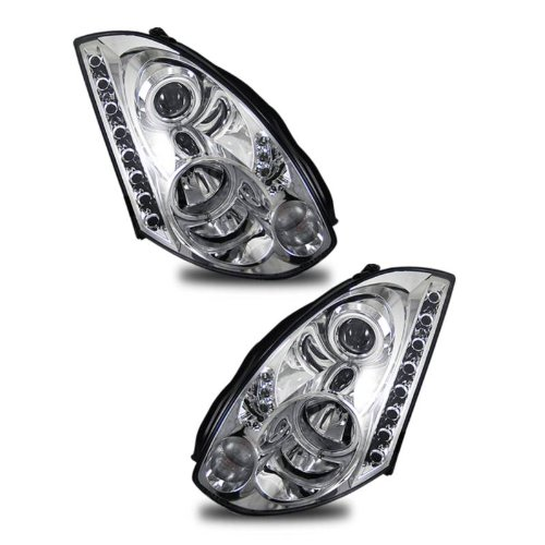 SPPC Headlights Chrome Projector (Hid Compatible and CCFL Halo) For Infiniti G35 2 Door - (Pair) (Headlight For Infinity G35 compare prices)