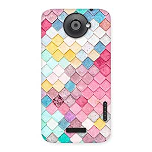 Ajay Enterprises Exant Pattern Rock Back Case Cover for HTC One X
