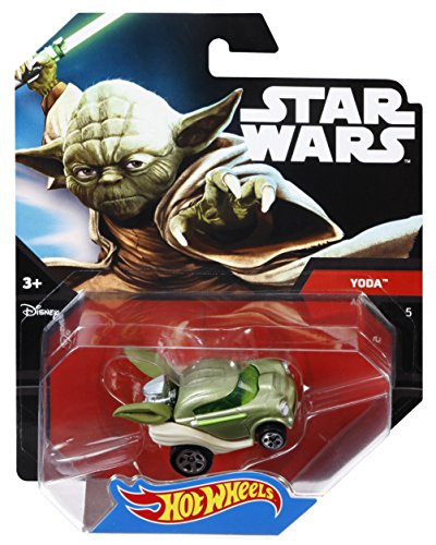 Hot Wheels Star Wars Character Car, Yoda - 1