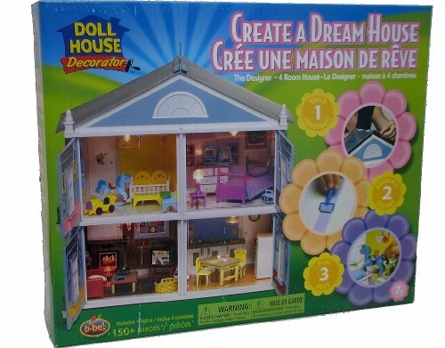 Decorator Create a Dream House Four Room Dollhouse