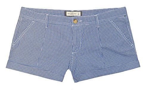 Abercrombie & Fitch Women Low Rise Shorts (8, Navy/White)