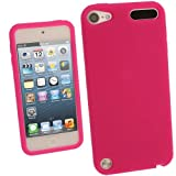 IGadgitz Hot Pink Silicone Skin Case Cover for Apple iPod Touch 5th Generation 5G 32GB 64GB + Screen Protector