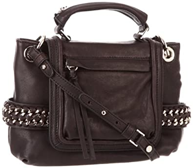 Treesje Women's Becket Moracy Collection Braided Chain Mini Satchel, Black