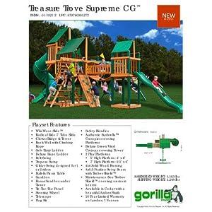 Treasure Trove Play Set Canopy: Canvas Green Sunbrella