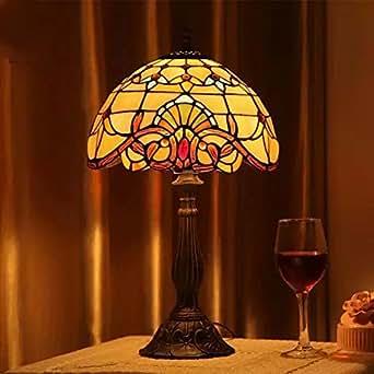 TOYM UK Tiffany Table Lamp Living Room Bedroom Bedside Lamp European Style C