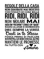 Ambiance Sticker Vinilo Decorativo Italian Text Regole Della Casa 2