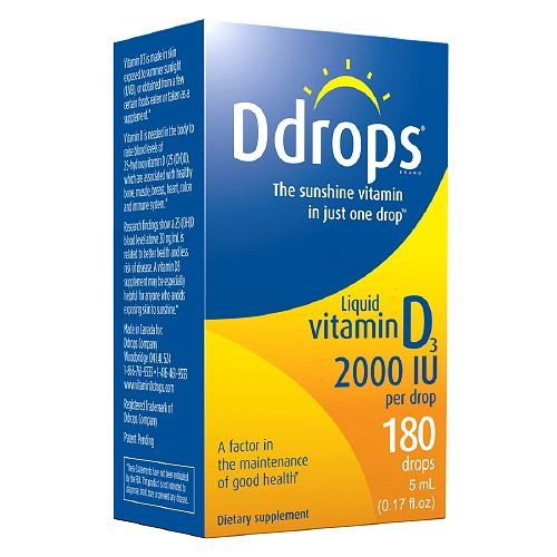 Ddrops Liquid Vitamin D3 180 Drops 2000 Iu - 0.17 Oz, Pack of 2 (Ddrops 2000 compare prices)