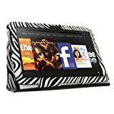 "KIQ TM Zebra Design Portfolio Leather Case Cover Skin for Amazon Kindle Fire HD 7"" built-in Stand"