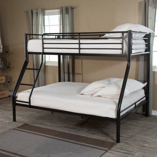 Black Metal Bunk Beds 4268 front