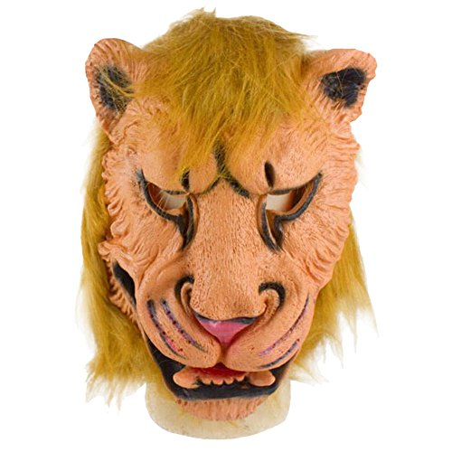 AutumnFall® Lion Mask Latex Animal Costume Prop Halloween