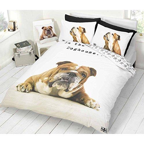 Barry Bulldog Single Duvet Cover & Pillowcase Set (Bulldog Bedding compare prices)