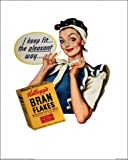 Posters: Brands Poster Art Print - Kellogg's Bran Flakes, I Keep Fit, Vintage (20 x 16 inches)