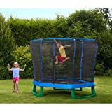 Plum Products 7ft Junior Jumper Trampoline and Enclosure (Blue/ Green)