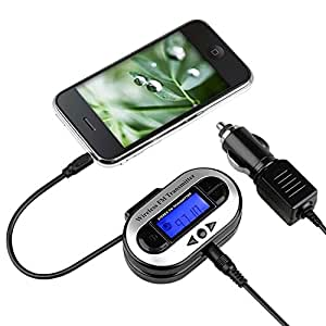 Insten® Compatible with Samsung Galaxy S6/ Galaxy S6 Edge Apple® iPhone® 6 Plus (5.5) Apple® iPhone® 4/4S - Insten® All Channel FM Transmitter w/ USB Port [Black]