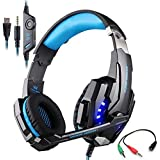 Gaming Headset For PlayStation 4 Tablet PC Mobilephones IPhone 6/6s/6 Plus/5s/5c/5, KOTION EACH G9000 3.5mm Over-Ear... - B018EKX1UI