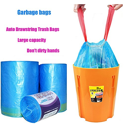 zdtech household kitchen drawstring trash bags bin liner thickness automatic close garbage bag. Black Bedroom Furniture Sets. Home Design Ideas