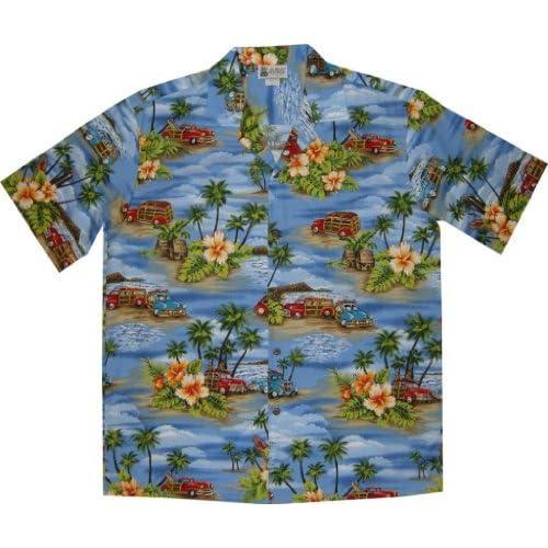 Aloha Republic Men's Vintage Woody Aloha Shirt