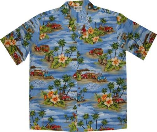 Aloha Republic Men's Vintage Woody Aloha Shirt 0