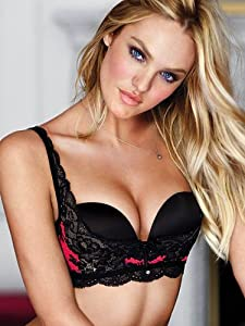Amazon.com: Victoria's Secret Bling Black & Red Lace Push Up Sling
