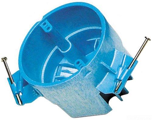 Carlon Bh525A-Upc Ceiling Fan Box, Round, New Work, 4-Inch Diameter By 3-Inch Depth, Blue