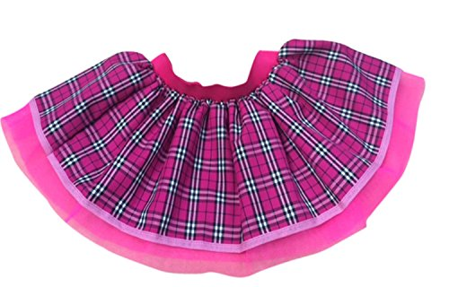 Pink Tartan Gothic Punk Kilt Fancy Dress Tutu Skirt (Plus Size)