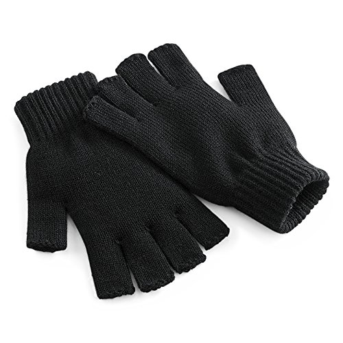 Beechfield Unisex Winter-Handschuhe, fingerlos Small /...