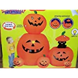 6ft Airblown Inflatable Animated Halloween Pumpkin Stack ~ Gemmy