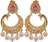Violet & Purple Gold Plated Dangle & Drop Earrings For Women (1000031517)