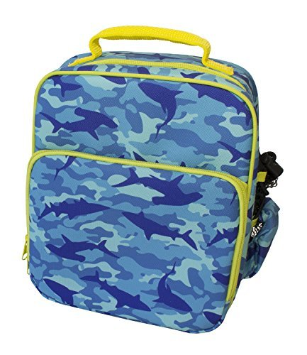 Insulated-Durable-Lunch-Bag-Reusable-Meal-Tote-With-Handle-and-Pockets-Shark-Camo-by-Bentology