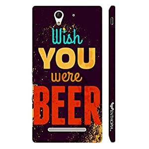 Sony Xperia C3 Wish You Were Beer designer mobile hard shell case by Enthopia