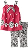 Carters Watch the Wear Baby-Girls Infant 2 Piece Flower Tunic With Zebra Leggings