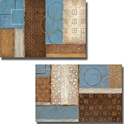 Earth and Sky I & II by Tava Studios 2-pc Premium Stretched Canvas Set (Ready to Hang)