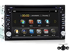 See Pumpkin 6.2 Inch For Nissan Double Din In Dash HD Touch Screen Car DVD Player Stereo GPS Navigation Support Bluetooth/SD/USB/AM/FM Radio/3G/1080P/DVR With Free Backup Camera Details