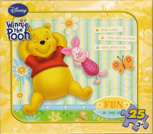 "Disney Winnie the Pooh 25-Piece Puzzle ""Fun in the Sun"" - 1"