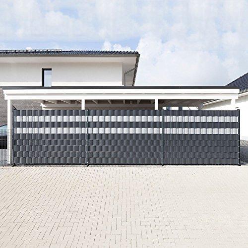 10 sichtschutzstreifen anthrazit im set hart pvc. Black Bedroom Furniture Sets. Home Design Ideas