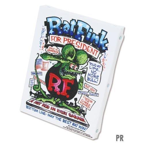 ラットフィンク アートキャンバス Mサイズ RatFink Art Canvas MRAF453PR PRESIDENT