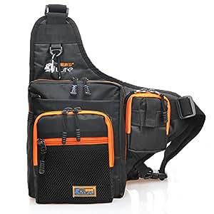 Fishing tackle storage bag backpack lifevc for Fishing backpack amazon