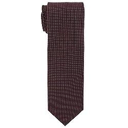 Cauvery Men's Pure Silk Dotted Design Necktie, 60 Inch by 5 Inch, Brown