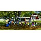 Flexible Flyer Fantastic Childrens Outdoor Playground Metal Swing Set