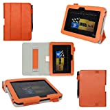ProCase old generation Kindle Fire HD 7 Case - Tri-Fold Folio Stand Cover for Amazon Kindle Fire HD 7 Inch Tablet (2012 version) auto sleep /wake feature, hand strap (Orange) ~ ProCase