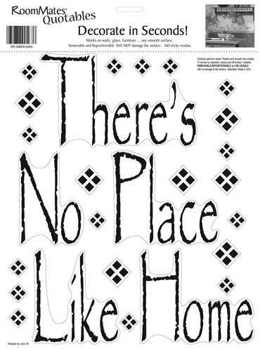RoomMates RMK0038SS There's No Place Like Home Peel & Stick Single Sheet - 1