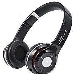 Micomy Bluetooth Wired and Wireless overear headphone S-460 with Aux cable connector -Black
