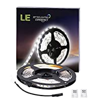 LE 16.4ft/5m Flexible LED Light Strips, 300 Units SMD 3528 LEDs, 12V DC Flexible LED Strip Lights, Daylight White, Non-waterproof, Lighting Strips, LED Tape, for Gardens/Homes/Kitchen/Cars/Bar from Lighting EVER