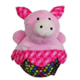Amazing Baby Roly Poly Pink Pig Farm Animal Chime Plush Toy