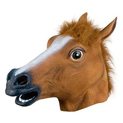 Silvercell Horse Head Mask Creepy Halloween Costume