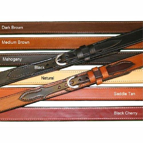 """Tucker And Byrd 58"""" Ranger 1 1/4"""" Gun Belt Dark Brown Chrome"""
