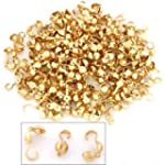 200 Bead Tips Clamshell Gold Plated B...