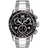 Tissot V8 Black Dial Stainless Steel Chrono Quartz Men's Watch T0394171105702